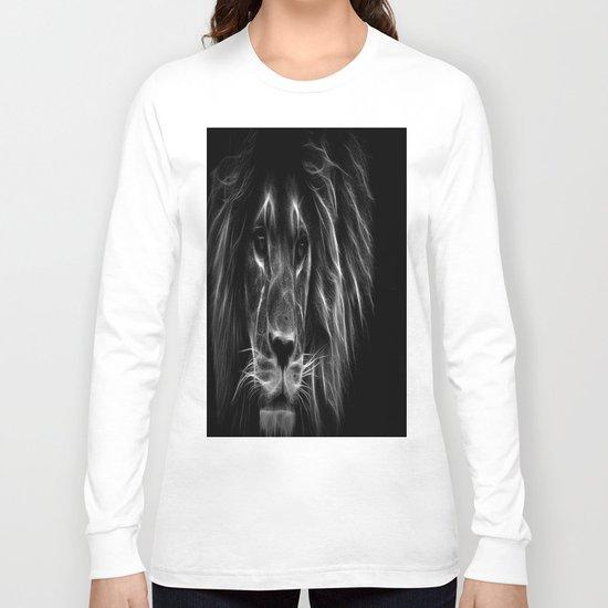 lion.  Black & White Long Sleeve T-shirt