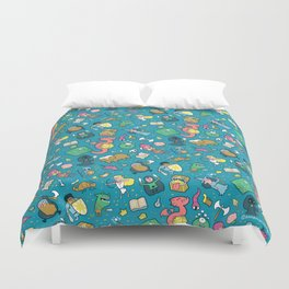 Dungeons & Patterns Duvet Cover