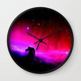Galaxy : Horsehead nEbUlA Pink Red Purple Wall Clock