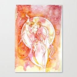 Goddess of Aries - A Fire Element Canvas Print