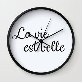 110. Life is beautiful Wall Clock