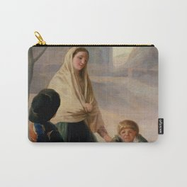 """Francisco Goya """"Woman with two Boys at a Fountain (Poor People at the Fountain)"""" Carry-All Pouch"""