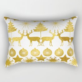 Gold Christmas 04 Rectangular Pillow