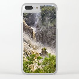 Roaring water at Barron Falls Clear iPhone Case