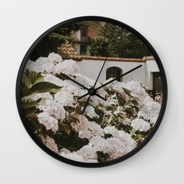 Bruges Flowers   Fine Art Travel Photography Wall Clock
