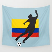 colombia Wall Tapestries featuring Colombia - WWC by Alrkeaton