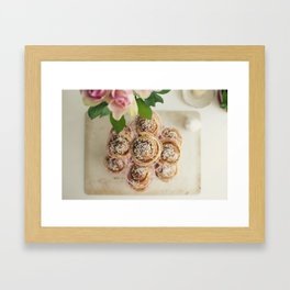 Kitchen art - cinnamon buns Framed Art Print