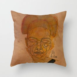 The woman with the black necklace Throw Pillow