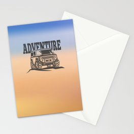 adventure off-road car trip Stationery Cards