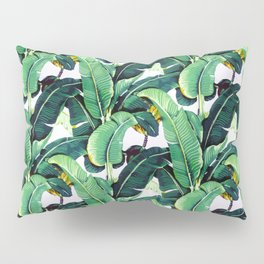 Tropical Banana leaves pattern Pillow Sham