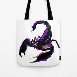 Scorpion geometric Animal  Zodiac sign Black and purple Tote Bag