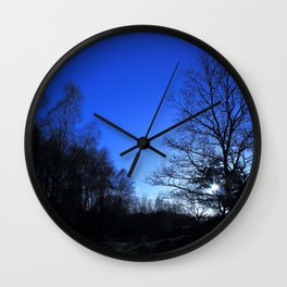 Clear Winter's Evening Wall Clock