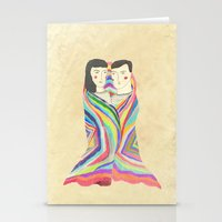 blanket Stationery Cards featuring blanket by lazy albino