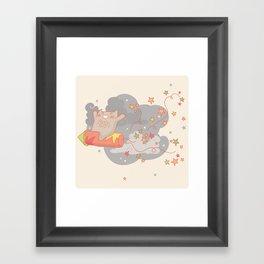 Yay! Raketa! Framed Art Print