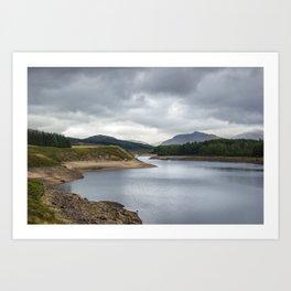 Lakes in Scotland Art Print