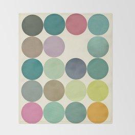 Circles I Throw Blanket