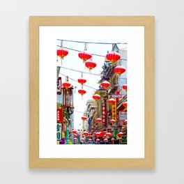 Red Chinese Lanterns in San Francisco Chinatown Framed Art Print