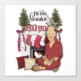 Merry Christmas Scene Canvas Print