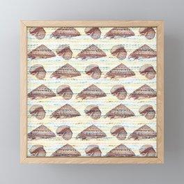 Vintage Seashells Pattern Framed Mini Art Print
