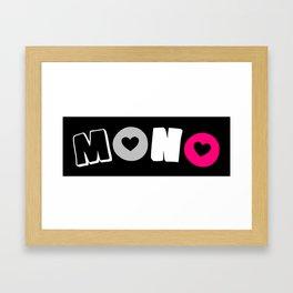 Mono Gyne (Gynesexual/romantic) Framed Art Print