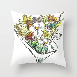 Summer Bouquet Throw Pillow