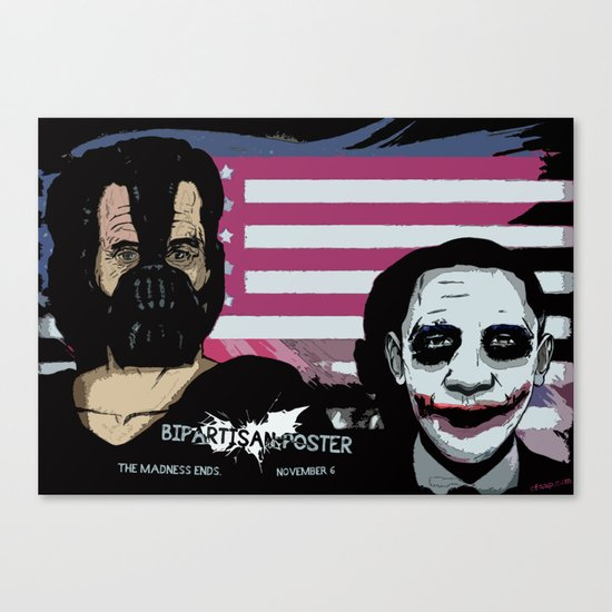 Bright Bipartisan Poster Canvas Print