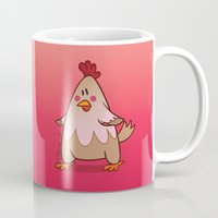 chicken Mugs featuring Chicken by jebirvoki