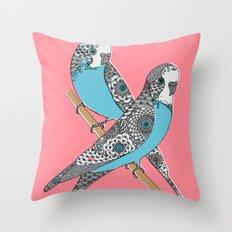 Budgies Throw Pillow
