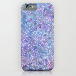 Grundy Blue Dots with Sparkles Everywhere iPhone Case
