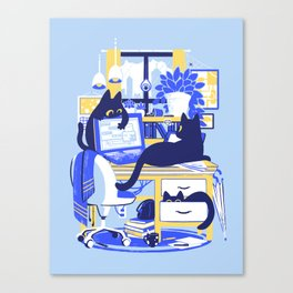 Working From Home Canvas Print