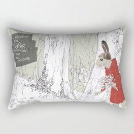 Deeper into the Woods Rectangular Pillow