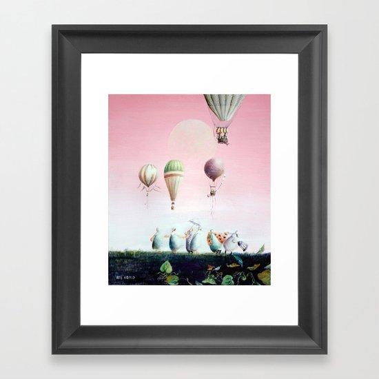 Un Deux Trois Framed Art Print
