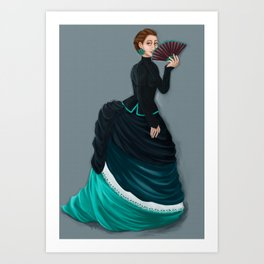 The lady Art Print