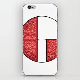 The Letter G iPhone Skin