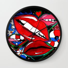 Lucious Lips Wall Clock