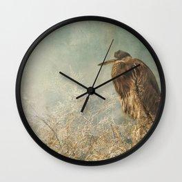 North Carolina Heron Wall Clock