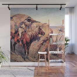 "Frederic Remington Western Art ""Apache Ambush"" Wall Mural"