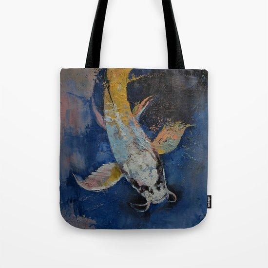 Dragon Koi Tote Bag