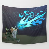 wizard Wall Tapestries featuring Wizard Spell by Richtoon