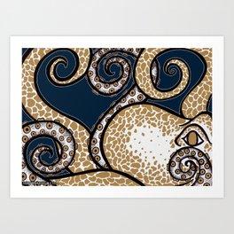 Pulpo de Oro Art Print
