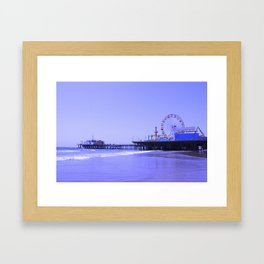 Purple Haze Santa Monica Pier Framed Art Print