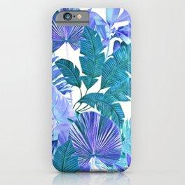 Tropical Leaf Blue iPhone Case