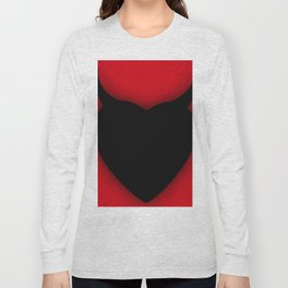 Heart Series Love Black Devil Horns Love Valentine Anniversary Birthday Romance Sexy Red Hearts Vale Long Sleeve T-shirt