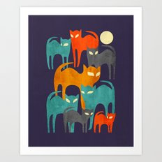 Stray Cats Art Print