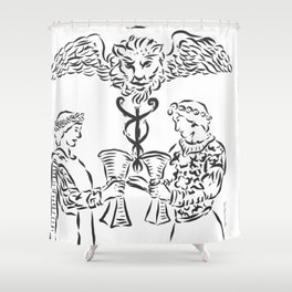 THE TWO OF CUPS Shower Curtain