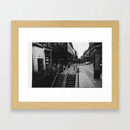 Glasgow Subway Framed Art Print