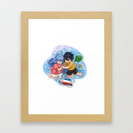 Gruvia - Ponyo Framed Art Print