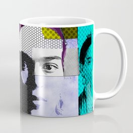 Frida Kahlo Abstract Pop Art Portrait by Michel Keck Coffee Mug