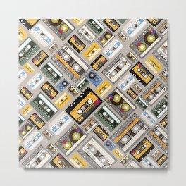 Retro cassette tape pattern 4 Metal Print