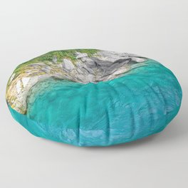 Turquoise Water, New Zealand #2 Floor Pillow